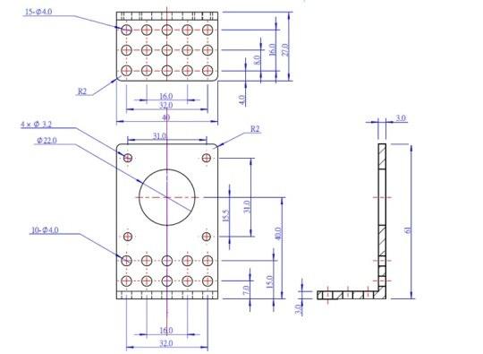 makeblock 42byg step motor tutacağı b boyutları